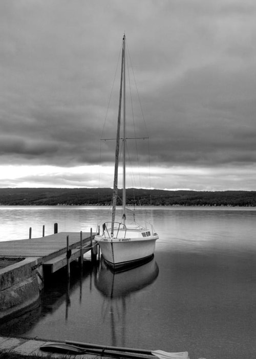 Sailboat Greeting Card featuring the photograph Still Waters by Steven Ainsworth