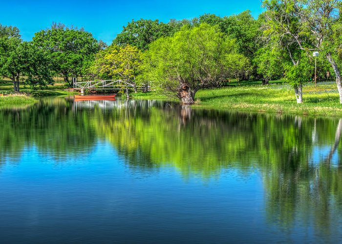 Texas Greeting Card featuring the photograph Stillness Prevails by Tom Weisbrook