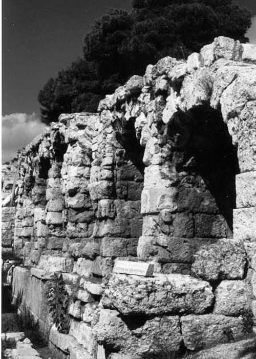Stoa Of Eumenes Greeting Card featuring the photograph Stoa Of Eumenes Athens by Susan Chandler