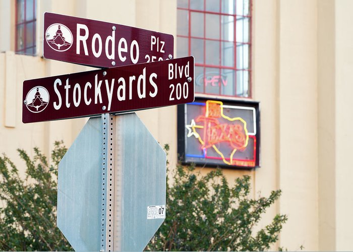 Stockyards Greeting Card featuring the photograph Stockyards Fort Worth 6815 by Rospotte Photography