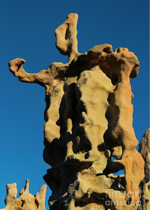 Siltstone Greeting Card featuring the photograph Stone Bot by Mike Dawson