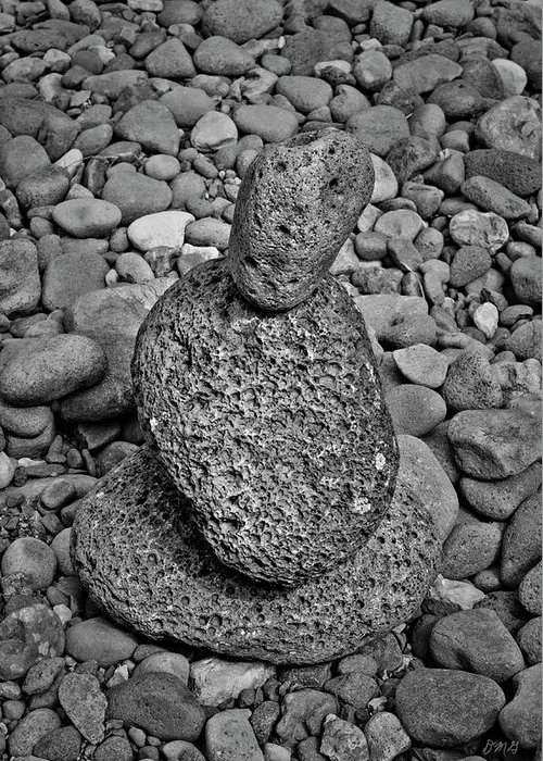 Stone Greeting Card featuring the photograph Stone Cairn I by Dave Gordon