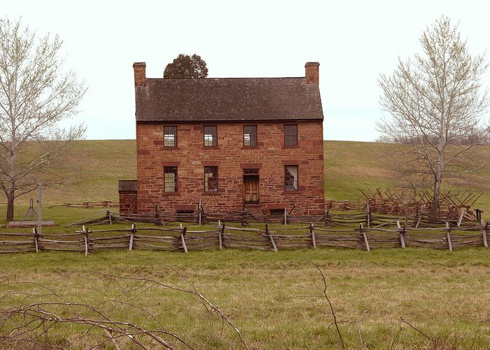 Manassas Greeting Card featuring the photograph Stone House At Manassas by Peter Williams