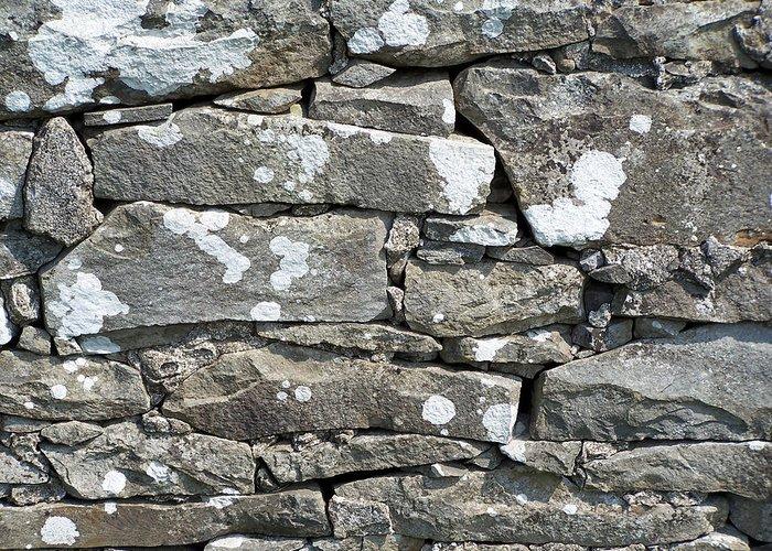 Irish Greeting Card featuring the photograph Stone Wall Detail Doolin Ireland by Teresa Mucha
