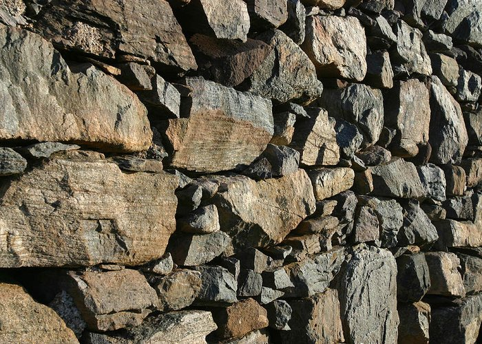 Dry Greeting Card featuring the photograph Stone Wall by Mike Bambridge