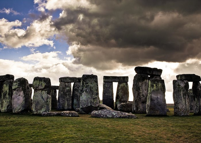 Landscape Greeting Card featuring the photograph Stonehenge After The Storm by Justin Albrecht