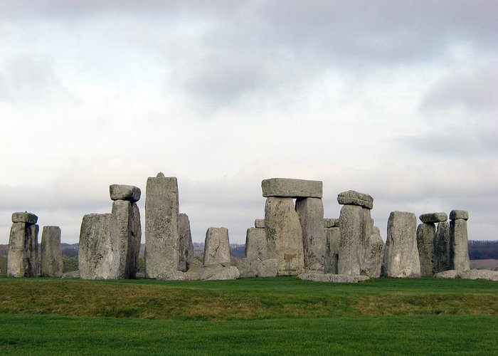 Stonehenge Greeting Card featuring the photograph Stonehenge by Amanda Barcon