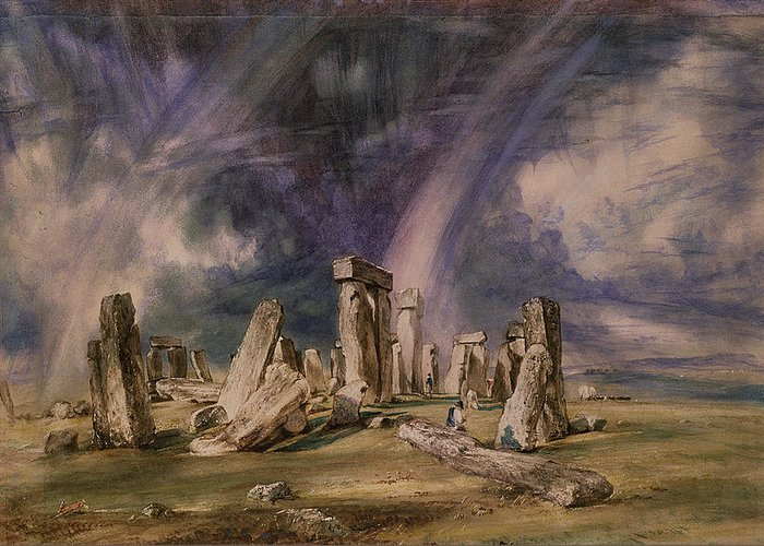 Stonehenge Greeting Card featuring the painting Stonehenge by John Constable