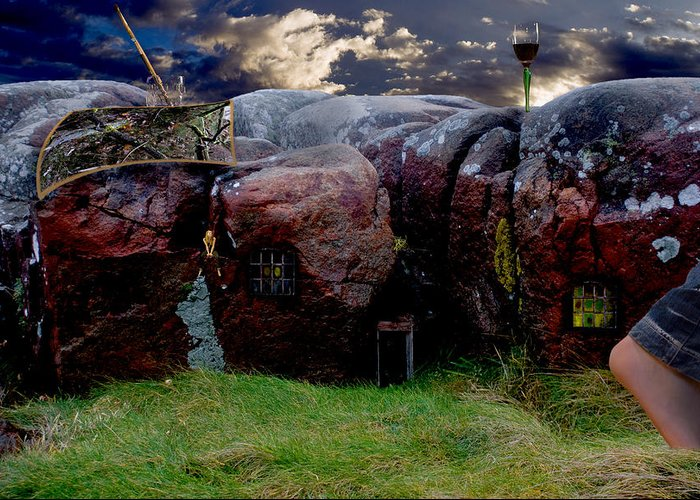 Stone Greeting Card featuring the photograph Stonehome by Ove Rosen