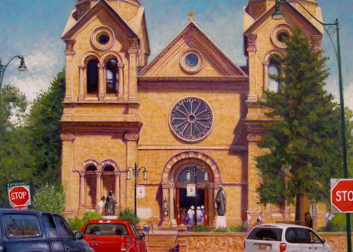 Realism Greeting Card featuring the painting Stop by Donelli DiMaria