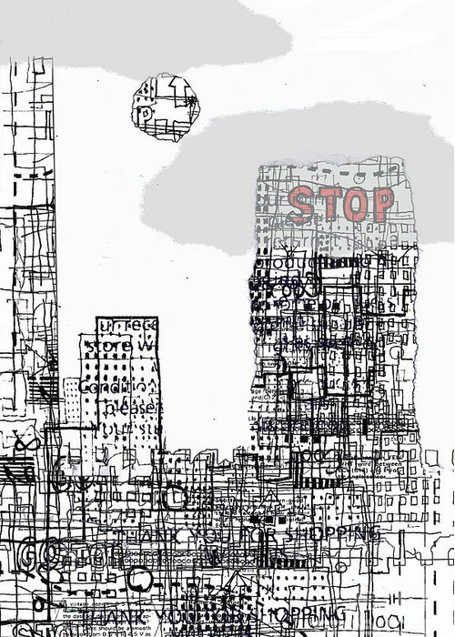 City Greeting Card featuring the digital art Stop II by Andy Mercer