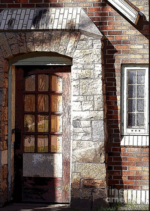 Door Greeting Card featuring the photograph Storage Door by Steve Augustin