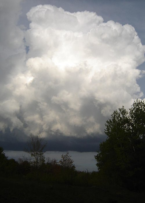 Nature Greeting Card featuring the photograph Storm Cloud 2 by Dean Corbin