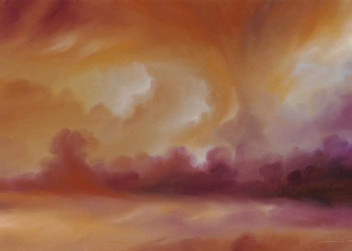 Tempest Greeting Card featuring the painting Storm Clouds 2 by James Christopher Hill