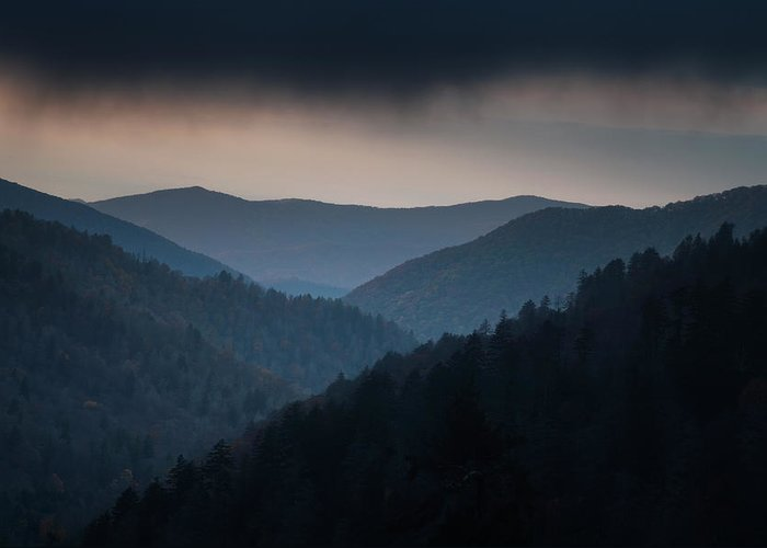 Smokies Greeting Card featuring the photograph Storm Clouds Over The Smokies by Andrew Soundarajan