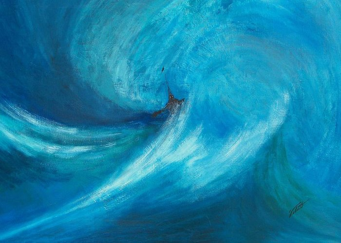 Landscape Greeting Card featuring the painting Storm by Dennis Vebert