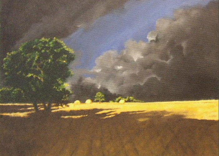 Landscapes Greeting Card featuring the painting Storm by Jane Simpson