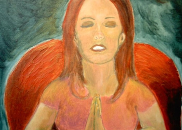 She Pray Greeting Card featuring the painting Storm Prayer by J Bauer