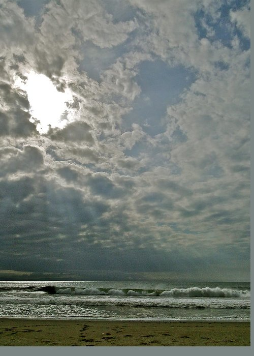 Ocean Greeting Card featuring the photograph Stormy Afternoon by Liz Vernand
