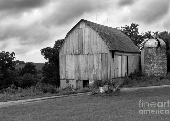 Barn Greeting Card featuring the photograph Stormy Barn by Perry Webster