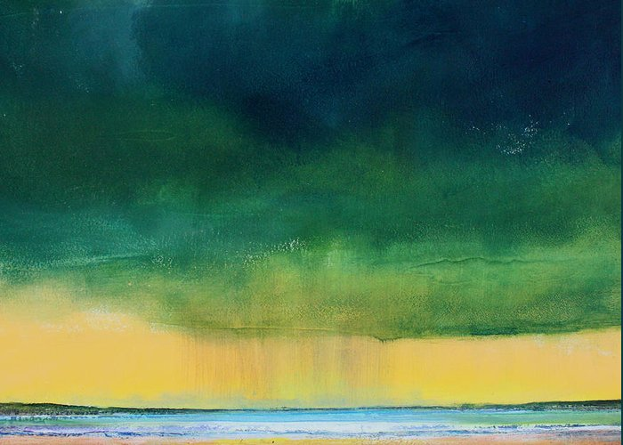 Storm Greeting Card featuring the painting Stormy Seas by Toni Grote