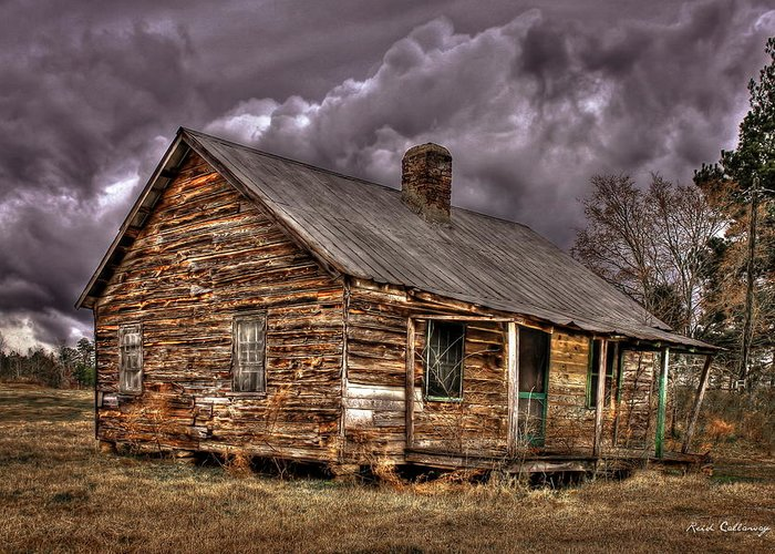 Reid Callaway The Shack Greeting Card featuring the photograph Stormy Times Tenant House Greene County Georgia Art by Reid Callaway