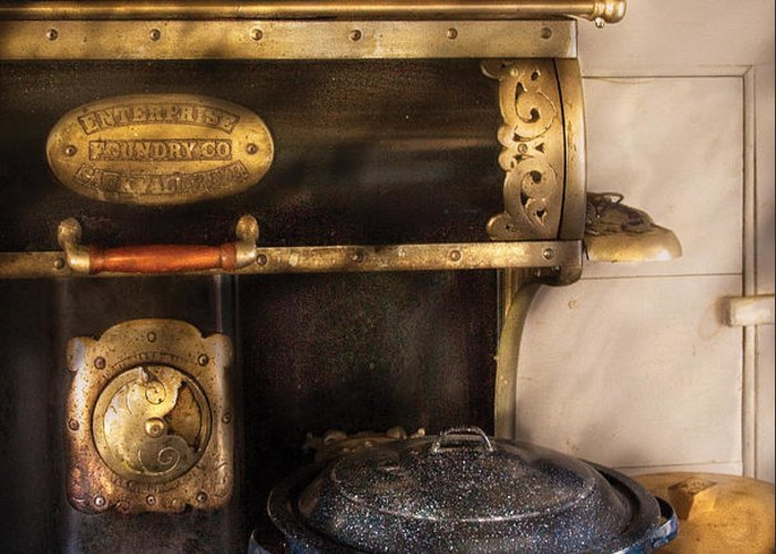 Savad Greeting Card featuring the photograph Stove - The Stove by Mike Savad