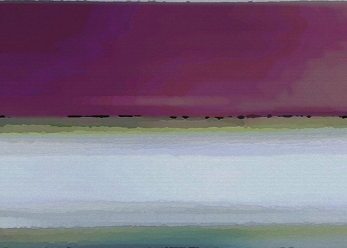 Abstract Greeting Card featuring the digital art Straight Across by Ruth Palmer