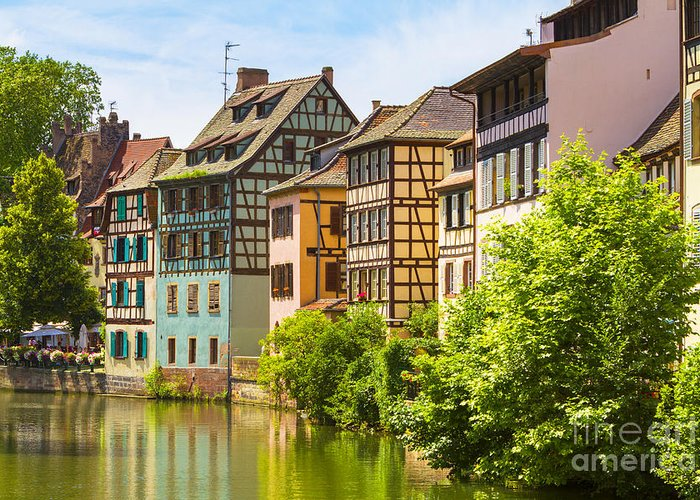 Alsace Greeting Card featuring the photograph Strasbourg, Half-tmbered Houses, Petite France, Alsace, France by Marco Arduino