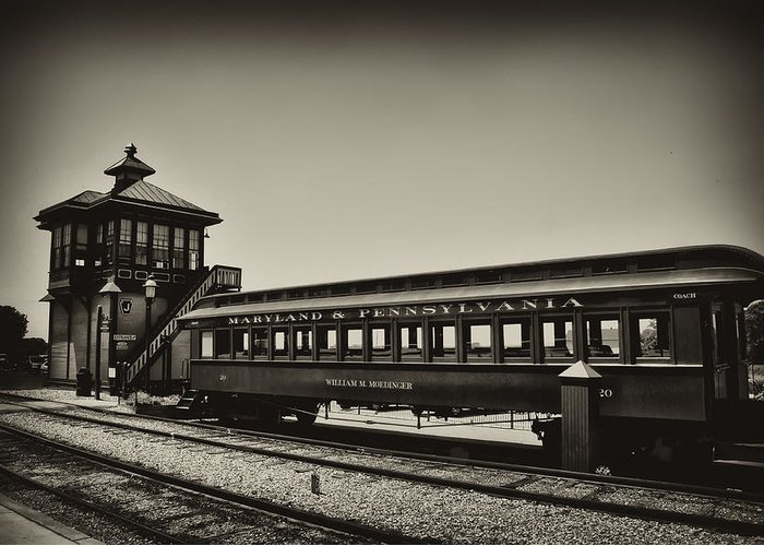 Lancaster County Greeting Card featuring the photograph Strasburg Rail Road by Bill Cannon
