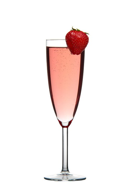 Alcohol Greeting Card featuring the photograph Strawberry Champagne by Gert Lavsen