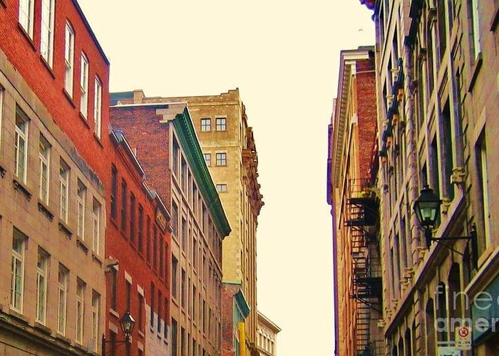 Photography Greeting Card featuring the photograph Streets Of Montreal by Reb Frost