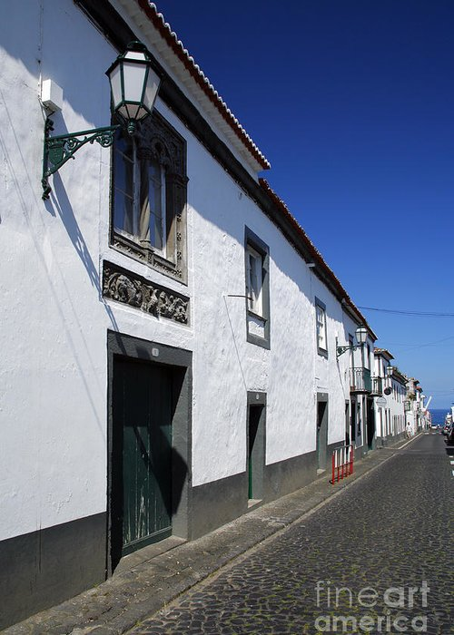 Portugal Greeting Card featuring the photograph Streets Of Ribeira Grande by Gaspar Avila