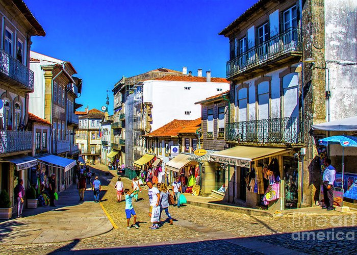 Valenca Greeting Card featuring the photograph Streets Of Valenca by Roberta Bragan