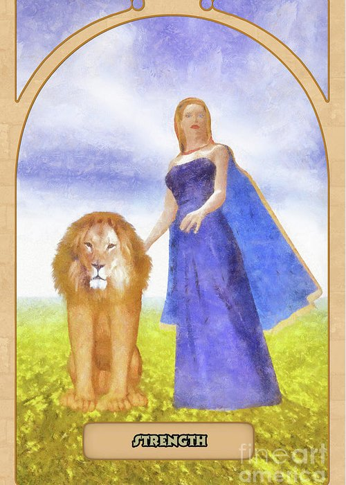 Magic Greeting Card featuring the digital art Strength by John Edwards