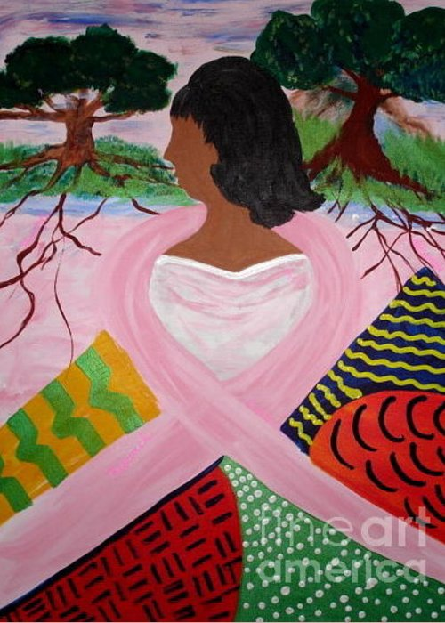 Women Greeting Card featuring the painting Strength of Our Roots by Sheila J Hall