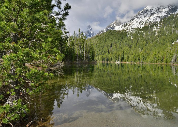 Grand Teton National Park Greeting Card featuring the photograph String Lake Teton Reflection by Ray Mathis