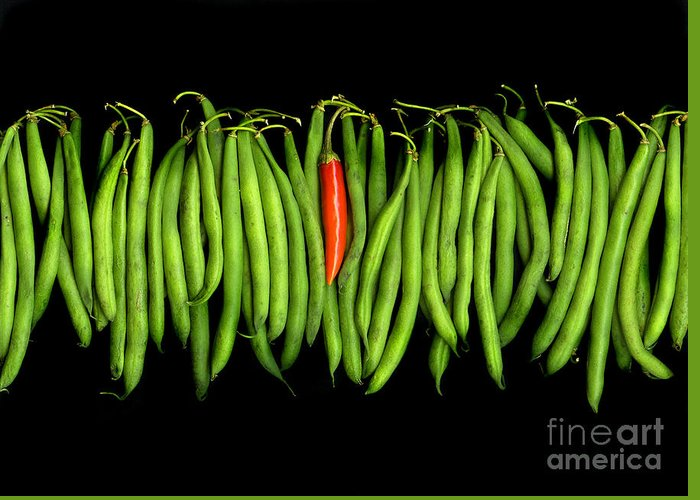Culinary Greeting Card featuring the photograph Stringbeans And Chilli by Christian Slanec