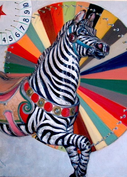 Realism Greeting Card featuring the painting Stripes by Donelli DiMaria