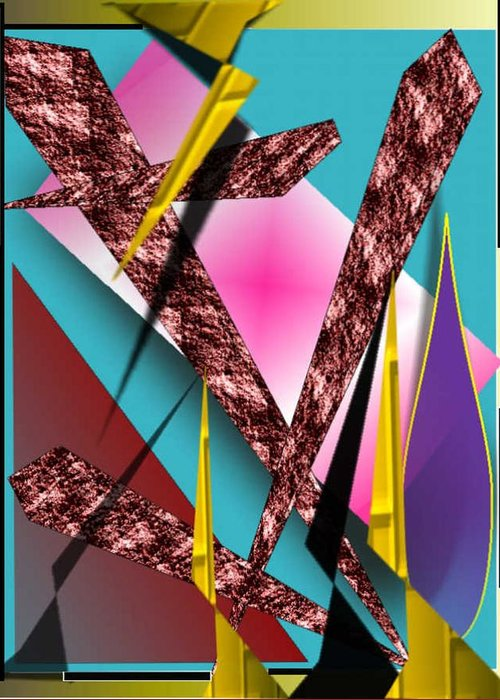 Abstracts Greeting Card featuring the digital art Structure by Brenda L Spencer