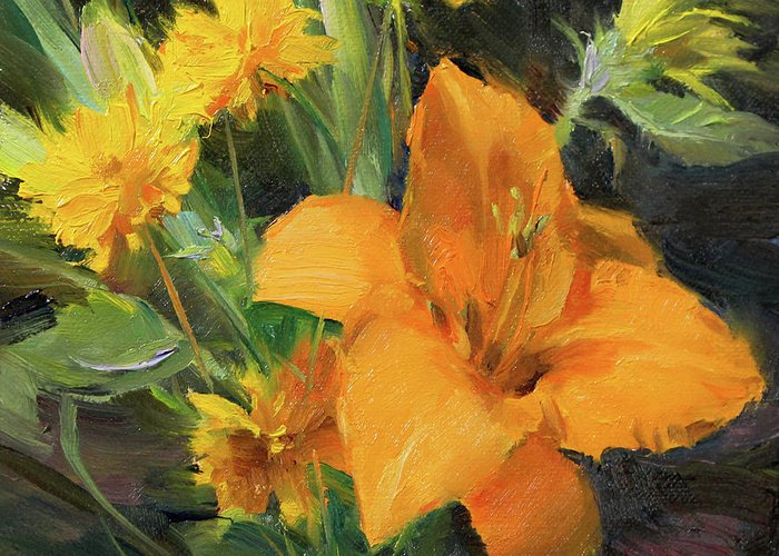 Day Lily Greeting Cards