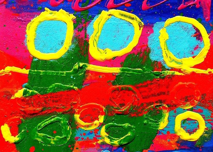 Acrylic Greeting Card featuring the painting Sub Aqua IIi - Triptych by John Nolan