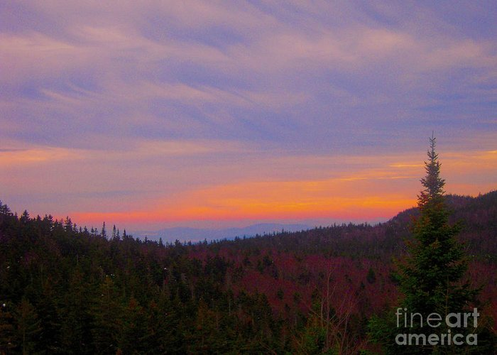 Loon Mountain Greeting Card featuring the photograph Sublime by Dave Pellegrini