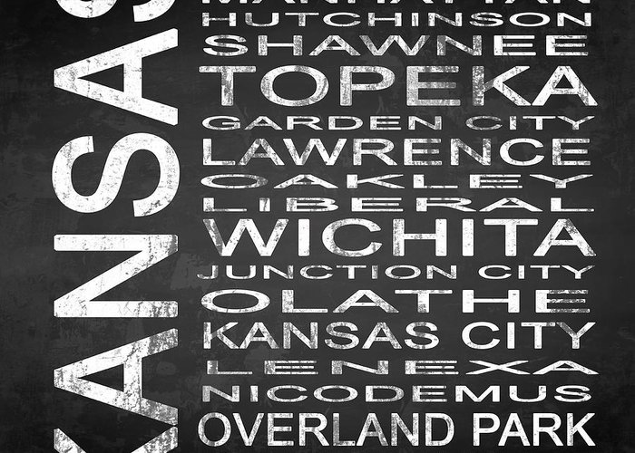 Subway Sign Greeting Card featuring the digital art Subway Kansas State Square by Melissa Smith
