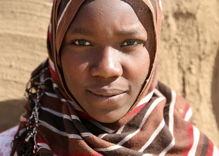 Sudan Greeting Card featuring the photograph Sudanese girl by Marcus Best