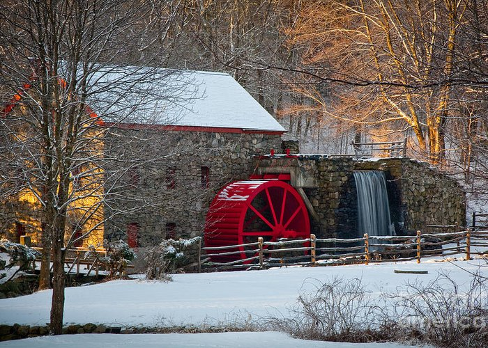 Boston Area Greeting Card featuring the photograph Sudbury Gristmill by Susan Cole Kelly
