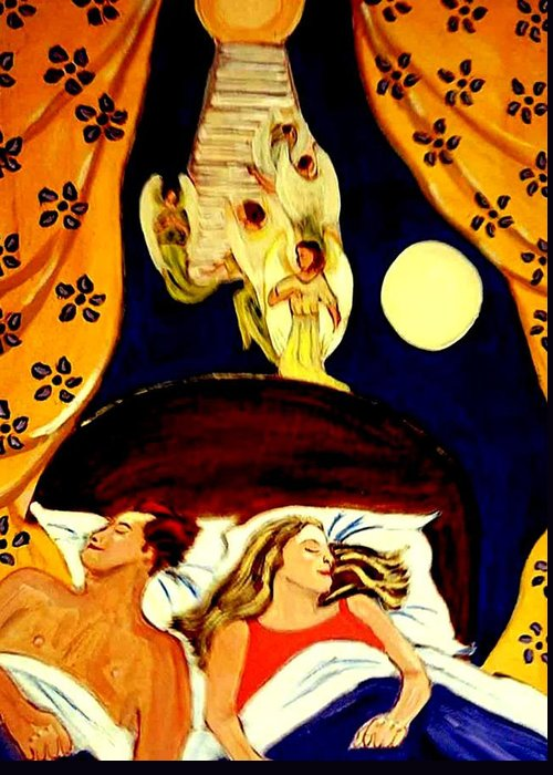 Dreams Greeting Card featuring the painting Suenos by Rusty Woodward Gladdish