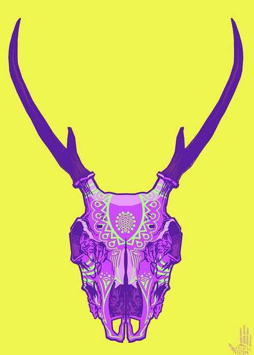 Gypsy Greeting Card featuring the digital art Sugar Deer by Nelson Dedos Garcia