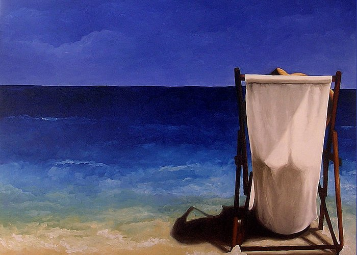 Seascape Greeting Card featuring the painting Summer Days by Trisha Lambi