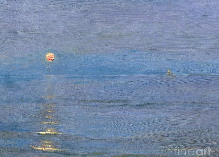 Summer Evening Greeting Card featuring the painting Summer Evening by PS Kroyer
